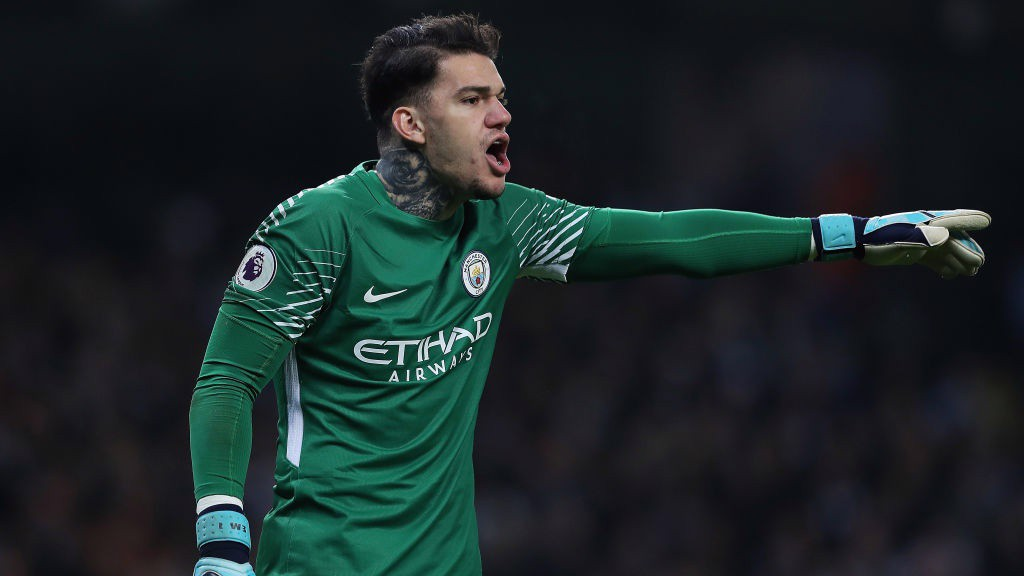 CALM 'KEEPER: Ederson was been impressive on the ball against Bournemouth.