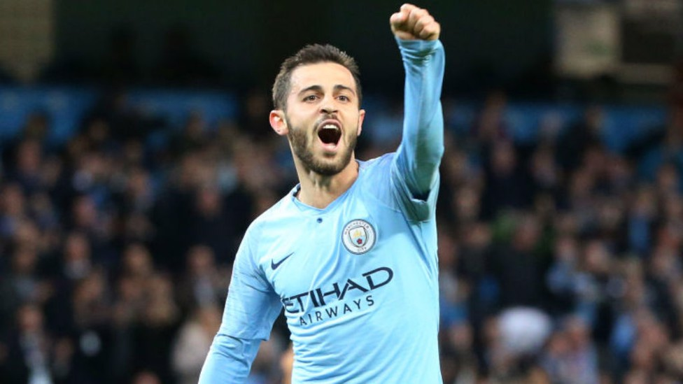 TWO: Bernardo makes it 2-1 in the first-half.