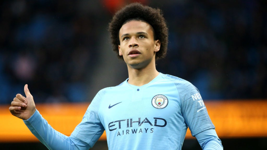 THUMBS UP: Our new 2018/19 home kit gets the seal of approval from Leroy Sane.