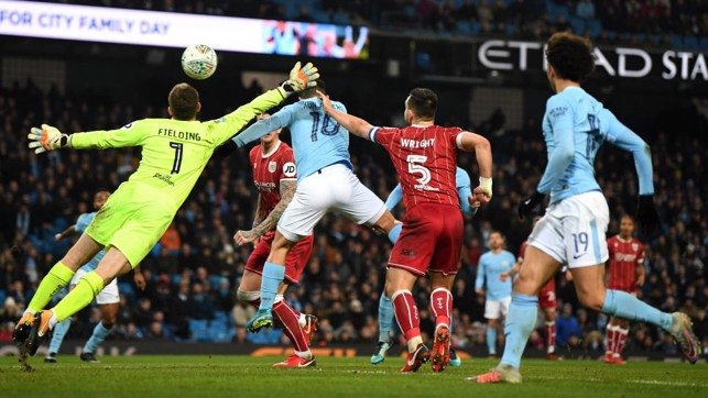 LETHAL: Substitute Sergio Agüero takes his chance to hand City a first-leg lead!