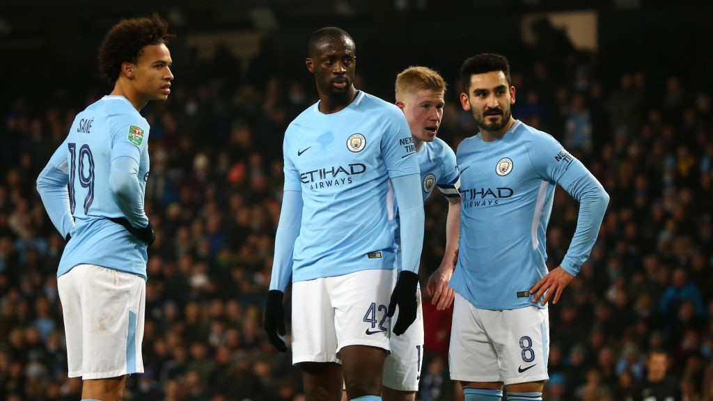 OPTIONS: City weigh up a free kick opportunity.