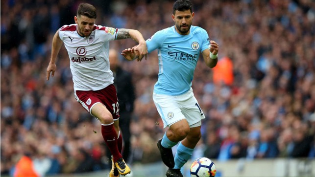 POWER SERG: Kun causes more havoc in the Burnley back-line