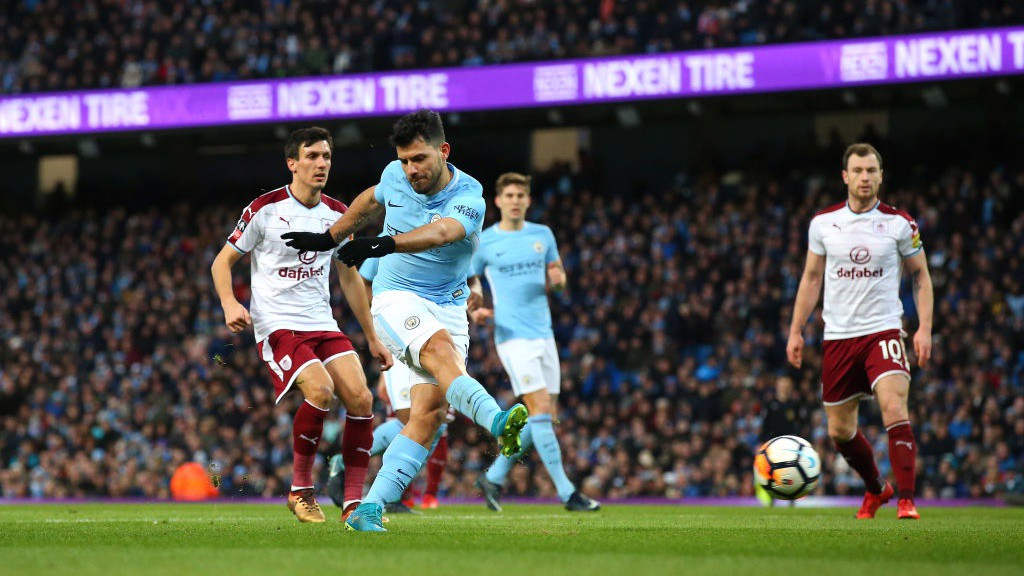 LEVELLER: Sergio Agüero draws City level with a trademark finish