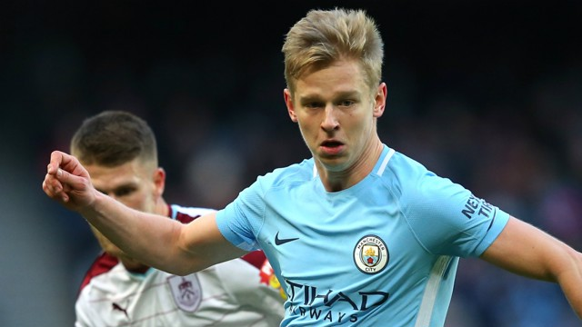 YOUNG GUN: Oleks Zinchenko in action against Burnley