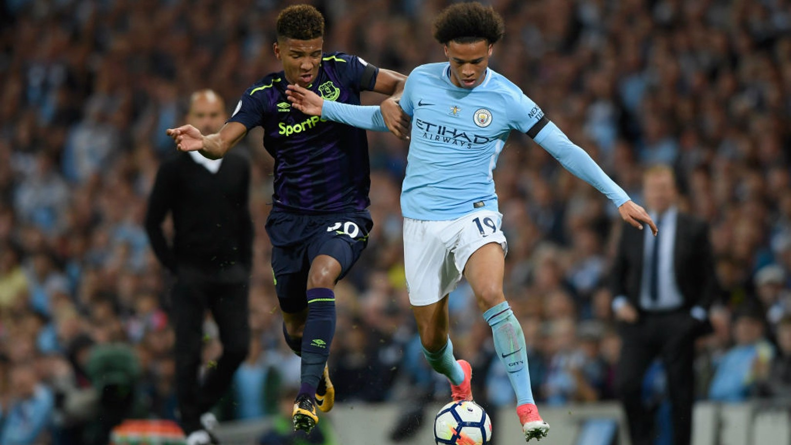 BREAKING FORWARD: Leroy Sane goes on the attack.