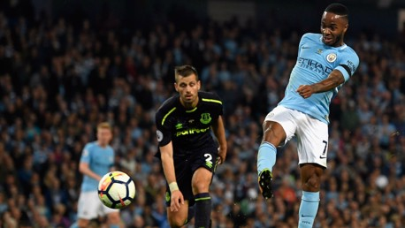GET IN: Raheem Sterling volleys home to draw the Blues level!