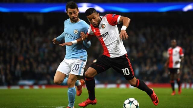 SILVA: Bernardo keeps an eye on Tonny Vilhena