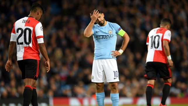 CLOSE: Aguero rues a missed opportunity