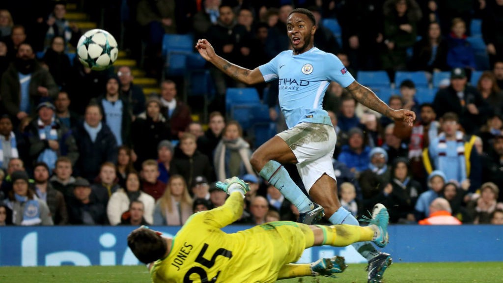 STERLING FINISH: Raheem bags the winner as City secure top spot