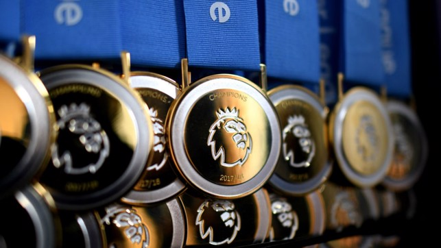 GONGS: The Premier League medals on display