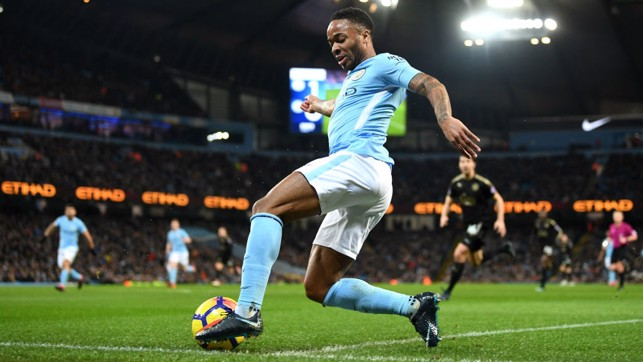 ACTION SHOT: Sterling in action against the Foxes.