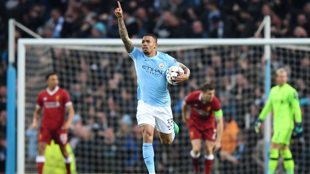 PERFECT START: Gabriel Jesus fires City in to the lead after just 1 minute and 57 seconds.