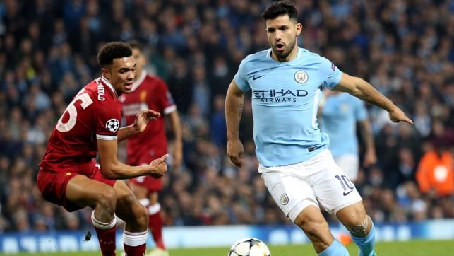 Sergio Aguero tampil setelah Liverpool menyamakan kedudukan.
