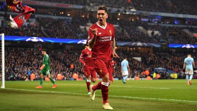 Langkah City makin berat usai Roberto Firmino mencetak gol kedua Liverpool.