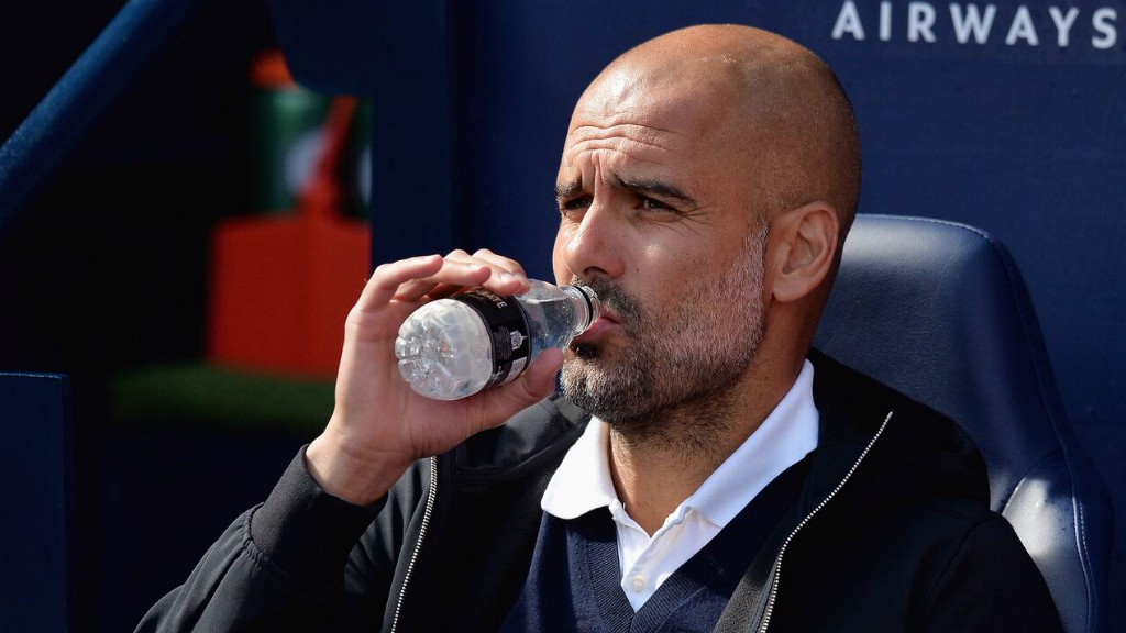 BOSS: Pep Guardiola, calm and collected