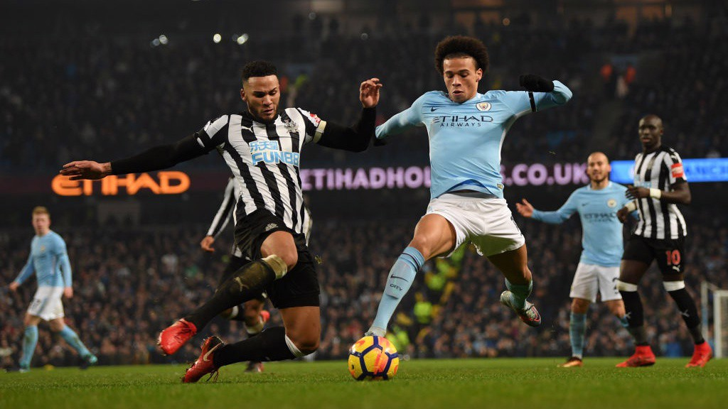WING WIZARD: Leroy Sane produced a brilliant assist for Aguero's hat-trick goal