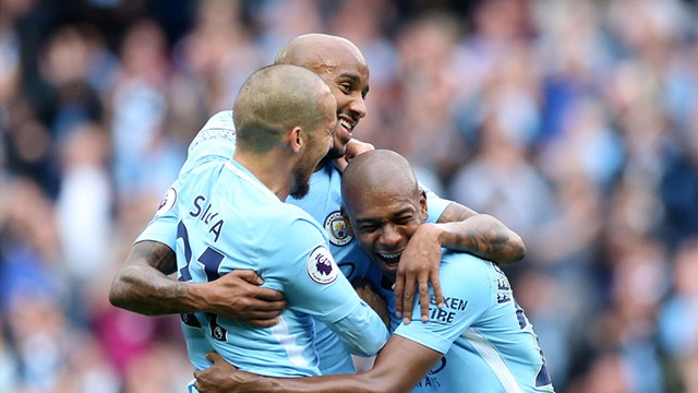WONDERGOAL: Fabian Delph scores an absolute beauty against Crystal Palace