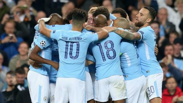 Image result for manchester city celebration win v napoli