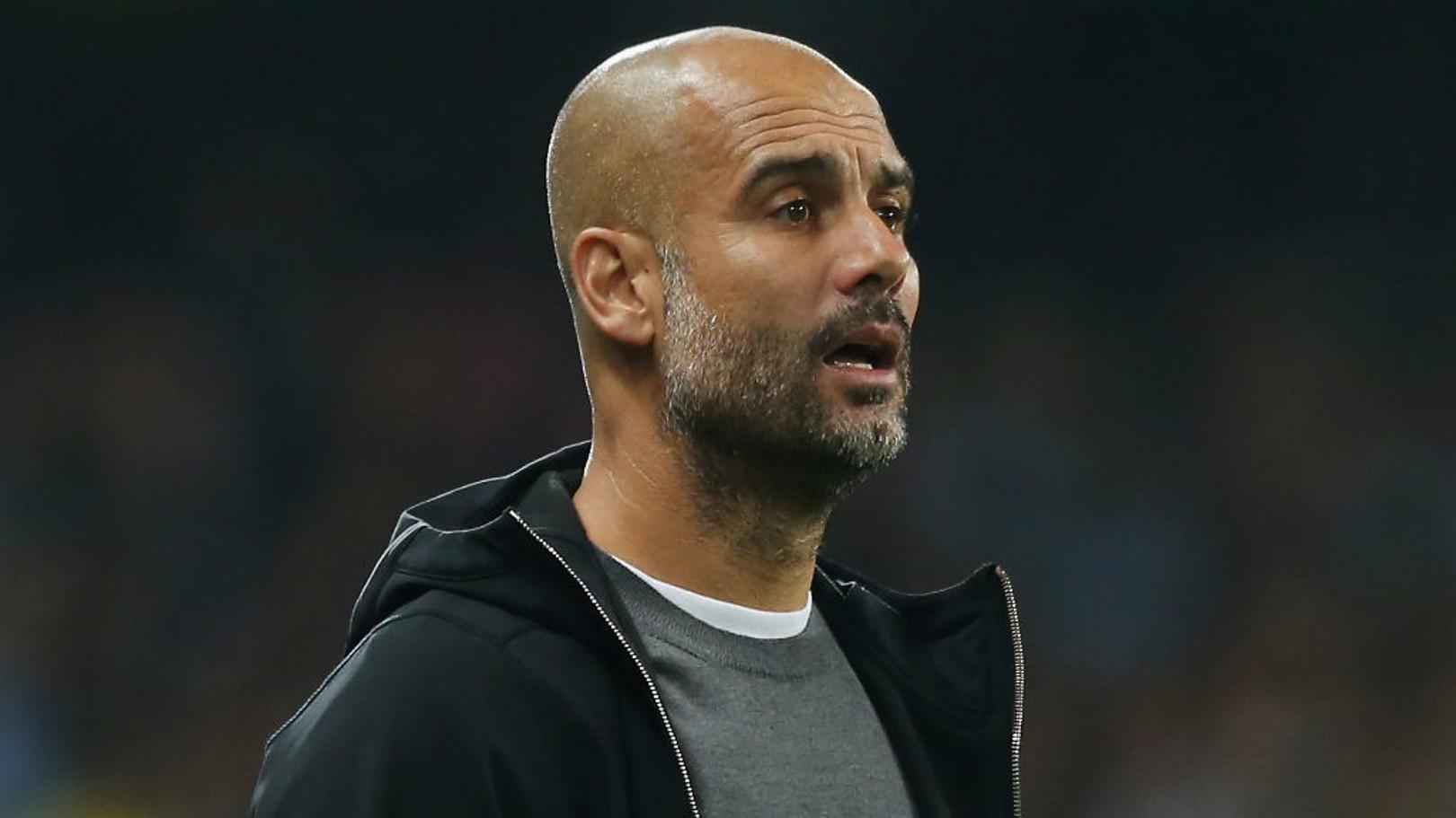LEADING MAN: Pep Guardiola urges City on