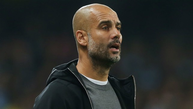 LEADING MAN: Pep Guardiola urges City on
