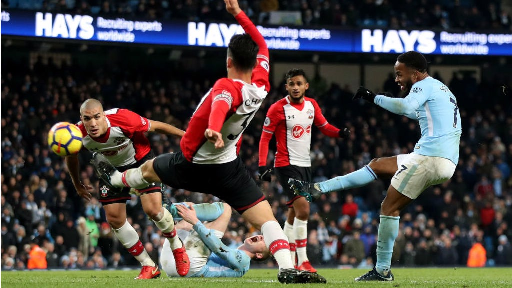 Fabulous Finish Raheem Sterling Curls Home His Stunning Winner Against Southampton
