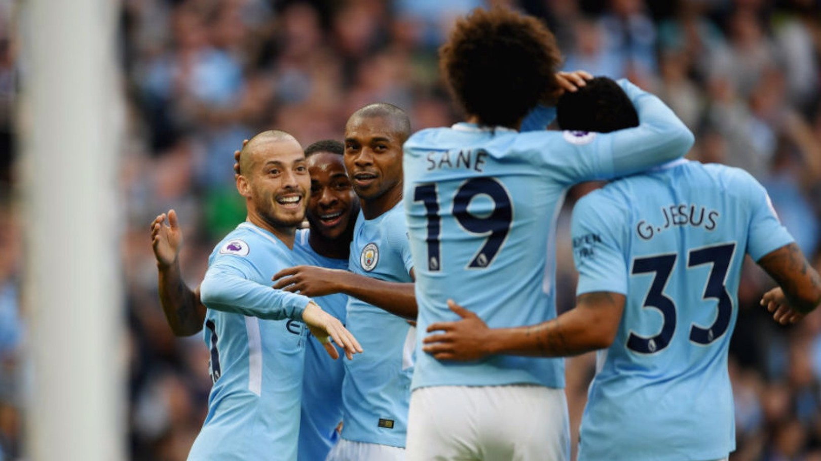 SEVENTH HEAVEN: City produced a spectacular performance in the 7-2 win over Stoke