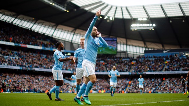BREAKTHROUGH: David Silva's strike to his season's tally into double figures.