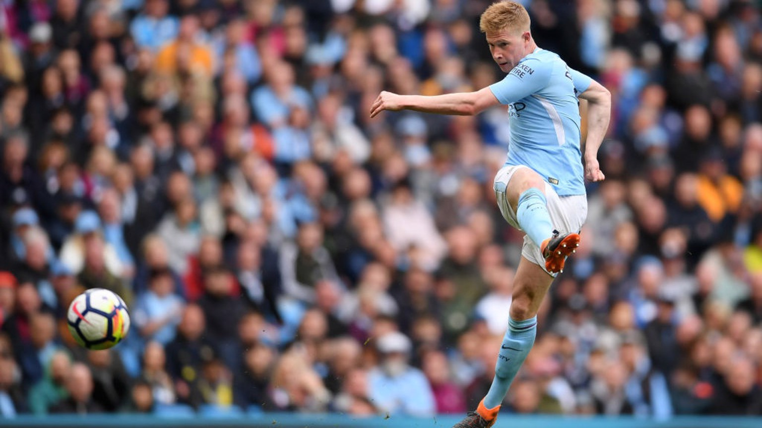 PILEDRIVER: There was no stopping Kevin De Bruyne's 54th-minute strike.