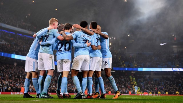 TEAM EFFORT: City celebrating yet another goal