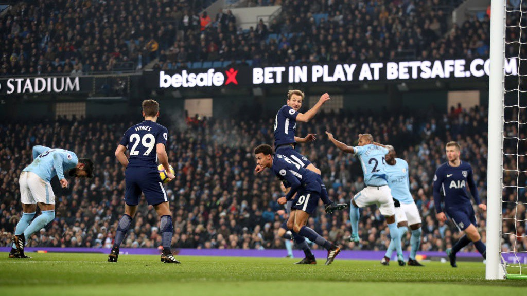 _Ilkay Gundongan meets Leroy Sané's corner with a forceful header_