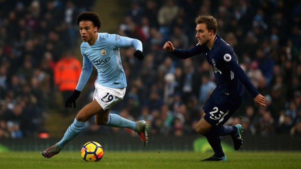 ON THE PROWL: Leroy Sané looks for an opening.