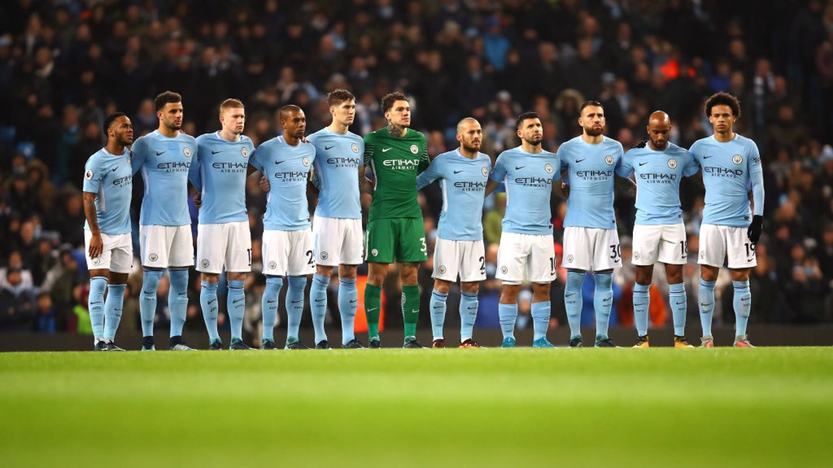 RESPECT: A minute's silence was impeccable observed at the Etihad.