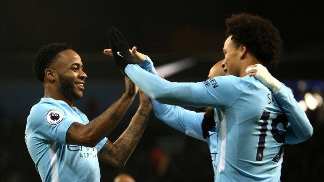 ​DREAM TEAM: Sané's cross, Sterling's finish.