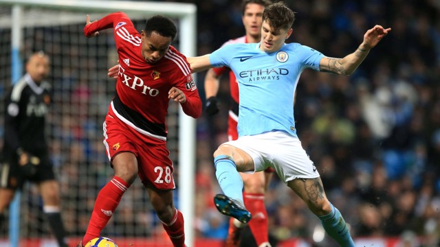 ​BACK AT IT: It was a solid display from John Stones on his return to action.