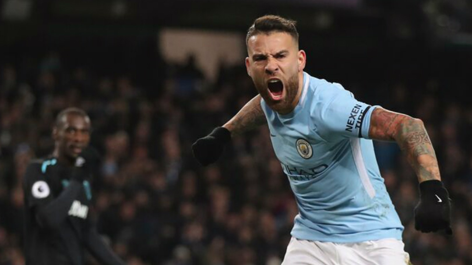 PASS MASTER: Nico Otamendi is on course to register 3,000 completed passes in the Premier League this season
