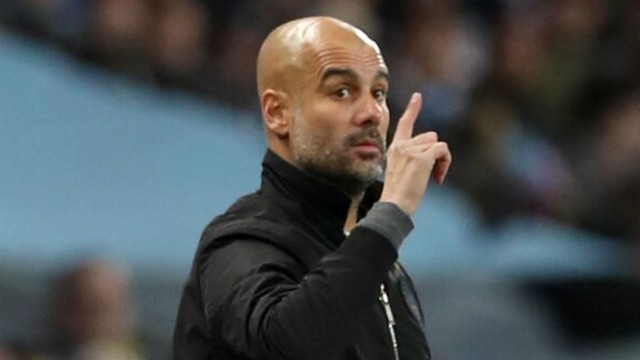 THE BOSS: Pep Guardiola delivers instructions