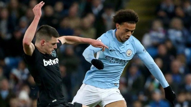 BATTLE: Leroy Sane wrestles his way out of a challenge