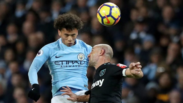 CLASH: Two former teammates collide. Typically committed from Pablo Zabaleta!