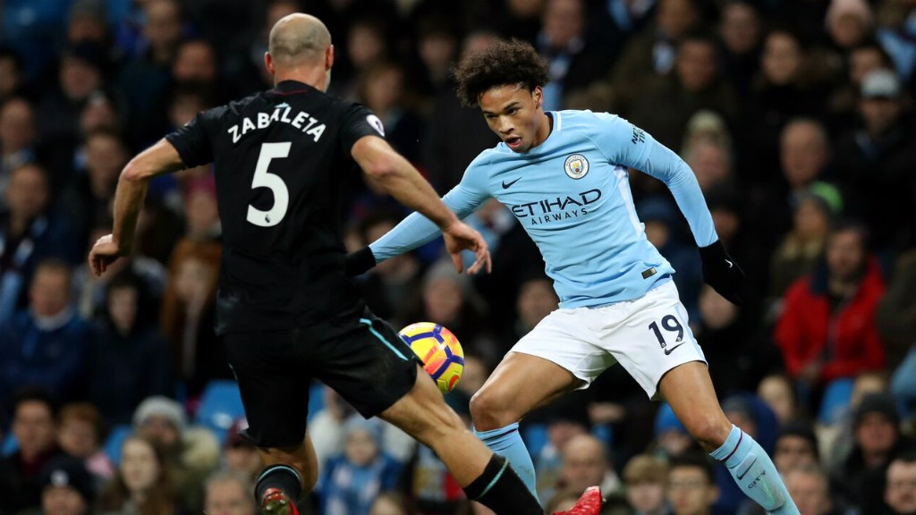 90605f18d96 HEAD TO HEAD: Former Blue Pablo Zabaleta stands up Leroy Sane