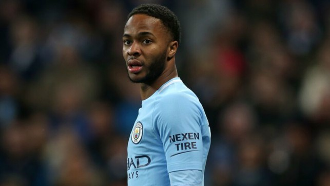 WATCHFUL: Raheem Sterling assesses the situation