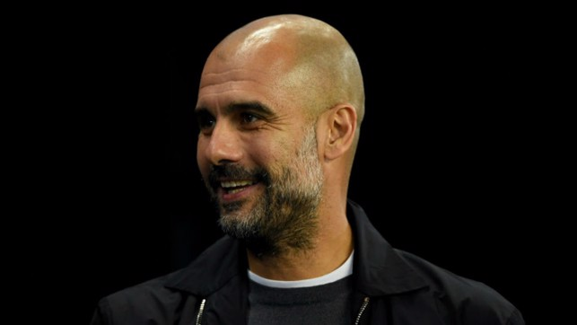 LEADING MAN: City manager Pep Guardiola looks on