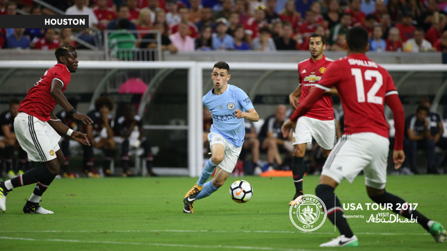 A CITY UNITED: Phil takes on three United players