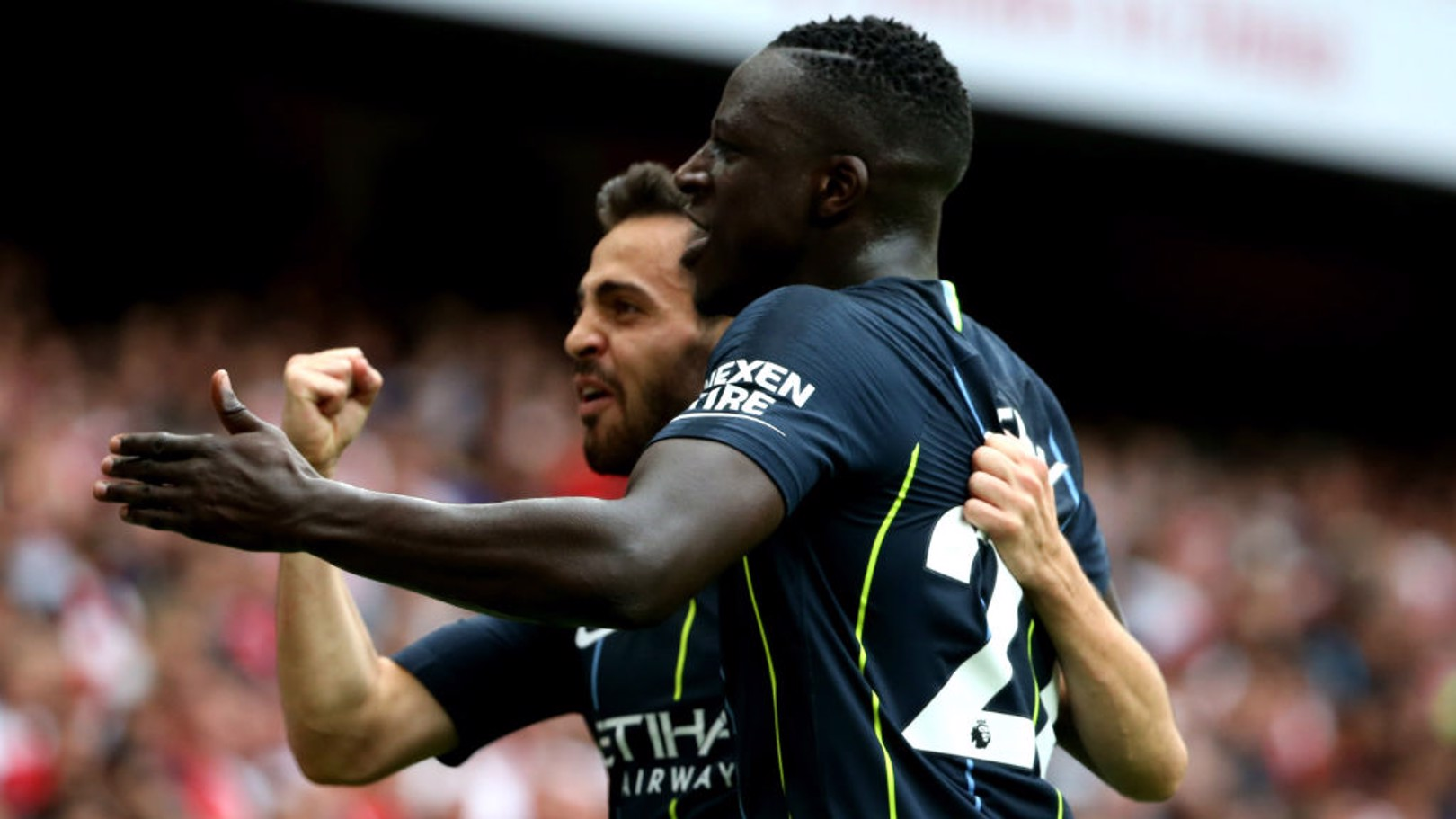 DUO: Mendy dengan assist-nya, Bernardo dengan golnya!