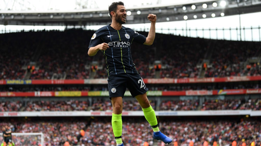 WHAT A HIT! Bernardo celebrates his goal