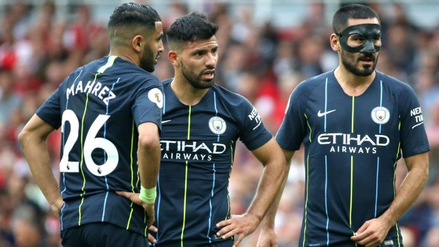 WINNING START: City earned three points with a fine win away at Arsenal