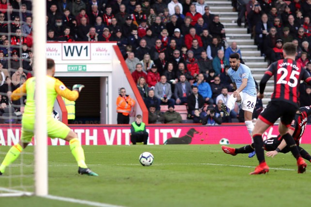 SUPER SUB: Riyad Mahrez breaks the deadlock with a close-range shot early in the second half