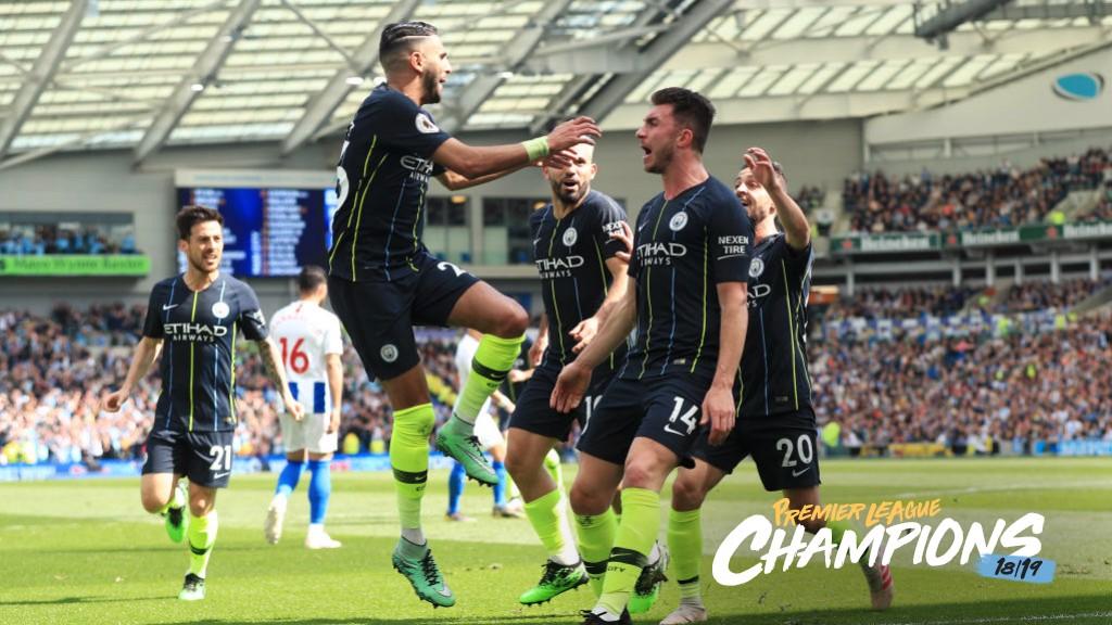 WINNING: City take the lead at Brighton.