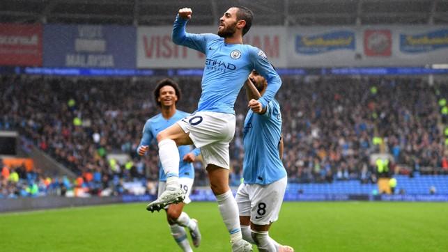 JUMP FOR JOY: Bernardo celebrates