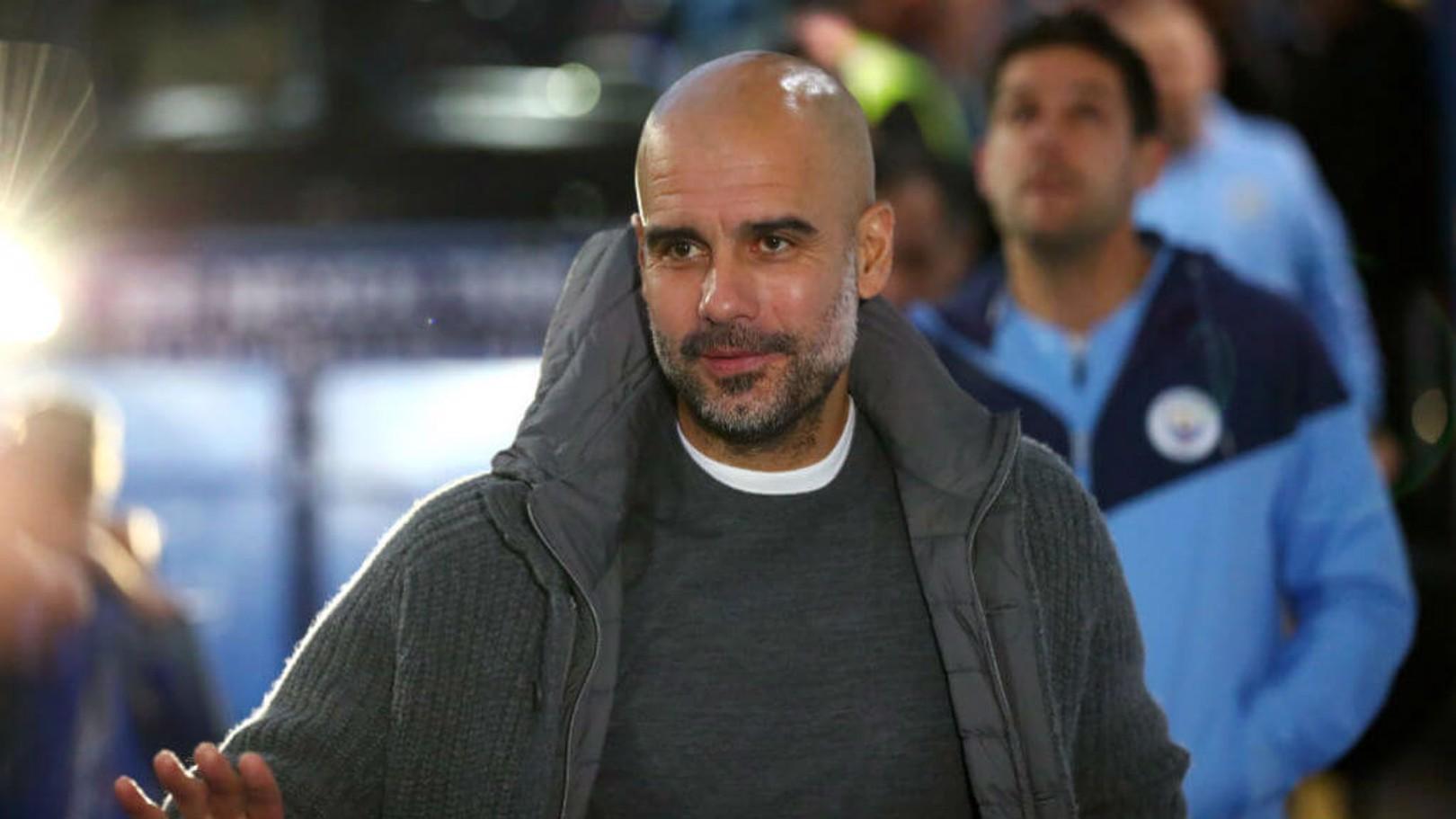 GUARDIOLA. Pep en el momento de la llegada a Stamford Bridge.
