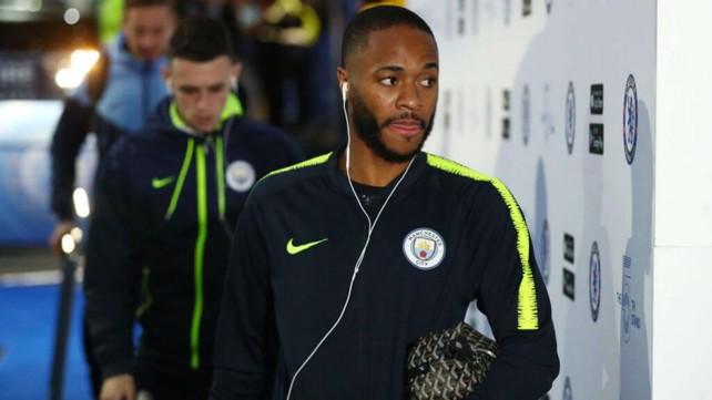 IN THE ZONE: Raheem looked focused ahead of kick-off